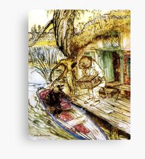 Ratty and Mole on the Riverbank - Wind in the Willows, Arthur Rackham Canvas Print
