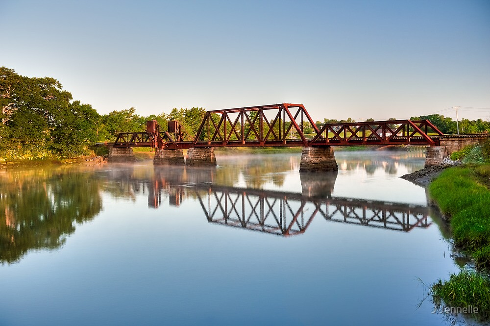 Rusty Railroad Bridge by J Jennelle