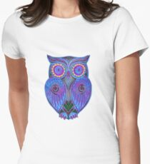 Ornate Owl 5 Women's Fitted T-Shirt