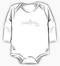 Body de manga larga para bebé Paisaje urbano de Nueva York (línea negra)