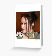 La fille aux yeux verts  Greeting Card