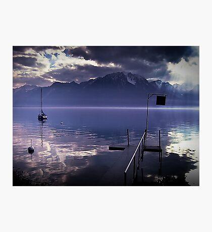 Lake Geneva, Switzerland. Photographic Print