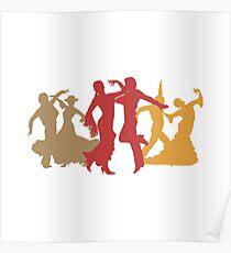 Colorful Flamenco Dancers Poster