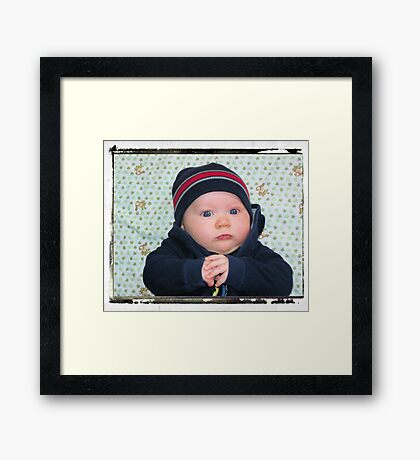 Don't Mess With Me!!! My Hat is Too Cool!! Framed Print