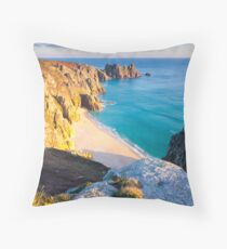 Treen Cliffs Throw Pillow