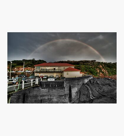 Rainbow over Merimbula Wharf Photographic Print