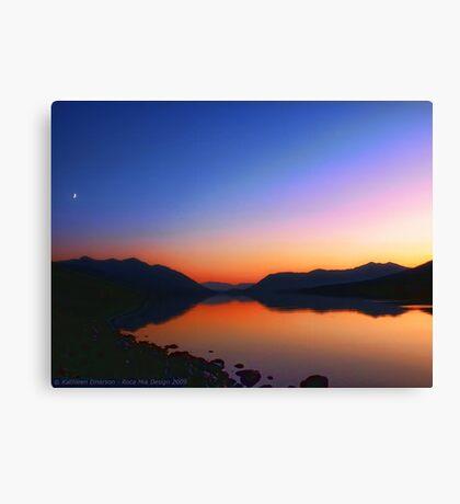 Lake MacDonald Sunset Canvas Print