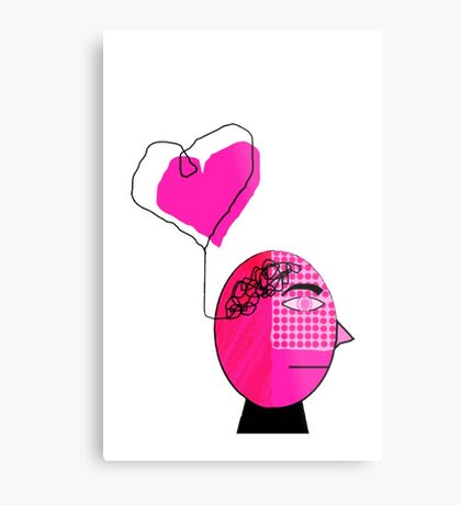 Pink in the face Metal Print