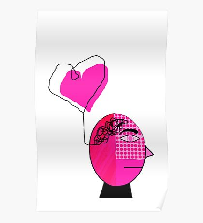 Pink in the face Poster