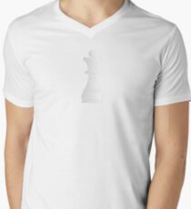 White queen chess piece Men's V-Neck T-Shirt