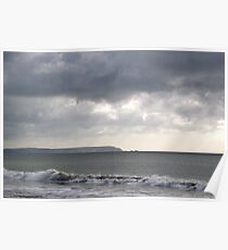 Storm brewing over the I O W Poster