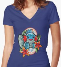 Mudkip Women's Fitted V-Neck T-Shirt