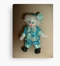 Puppet in blue suit Canvas Print