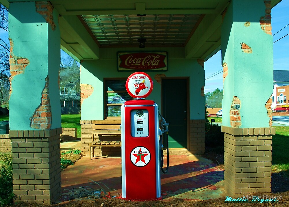 Old Gas Station by Mattie Bryant
