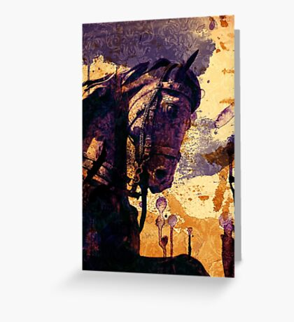 The King's Horse Greeting Card