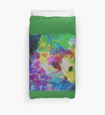 Cat communing with nature Duvet Cover