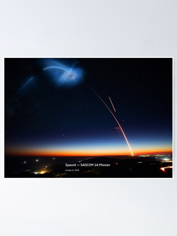 Alternate view of SpaceX — SAOCOM 1A Mission Poster