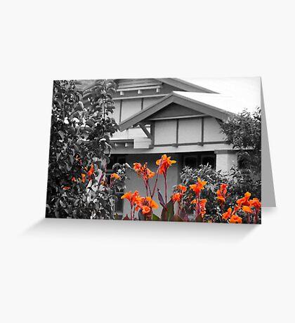 A little garden colour Greeting Card