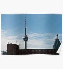 CN Tower From The Distillery District Poster