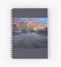 """""""Sunrise in the Center"""" by Reed Prescott Spiral Notebook"""
