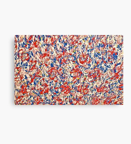Abstract With Red Canvas Print
