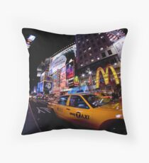 Moment in Times Square Throw Pillow