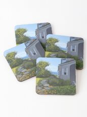 """Cape Cod Cottage"" by Reed Prescott Coasters"