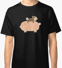 Baby Monkey Riding on a Pig Classic T-Shirt