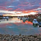 Sunset on Oxley Canal -Raby Bay Cleveland Qld by Beth  Wode