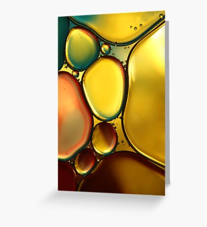 Oil & Water Abstract II Greeting Card