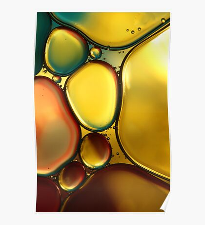 Oil & Water Abstract II Poster