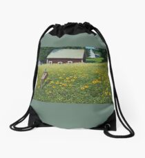 """""""Where's Mother"""" oil painting by Reed Prescott Drawstring Bag"""