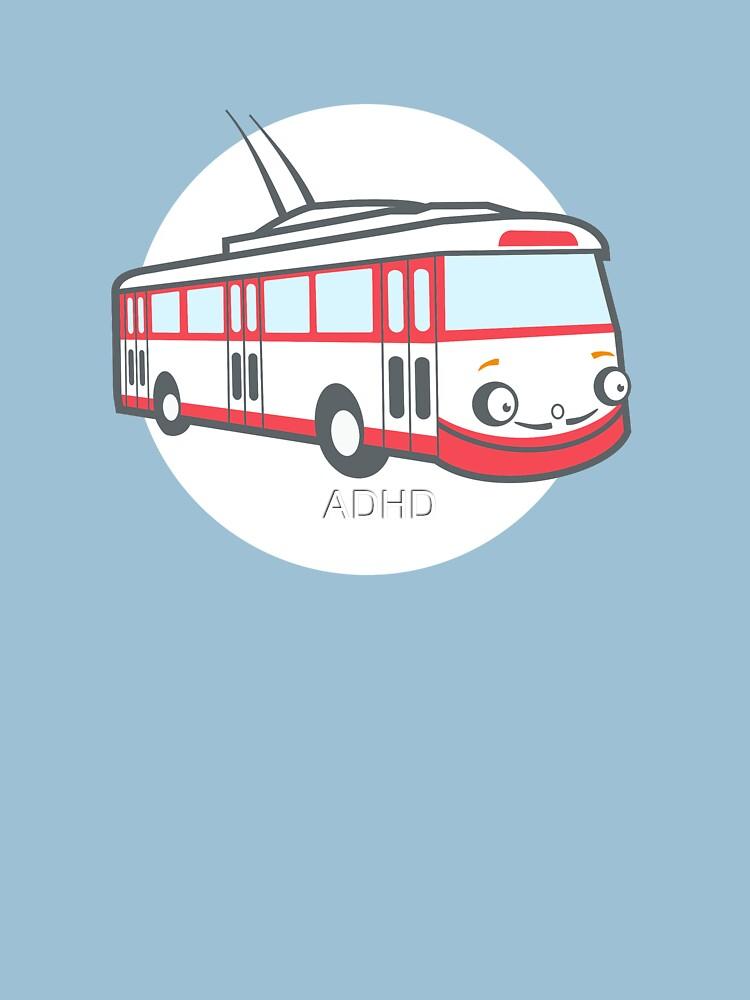 Friendly retro trolleybus Salvador by ADHD