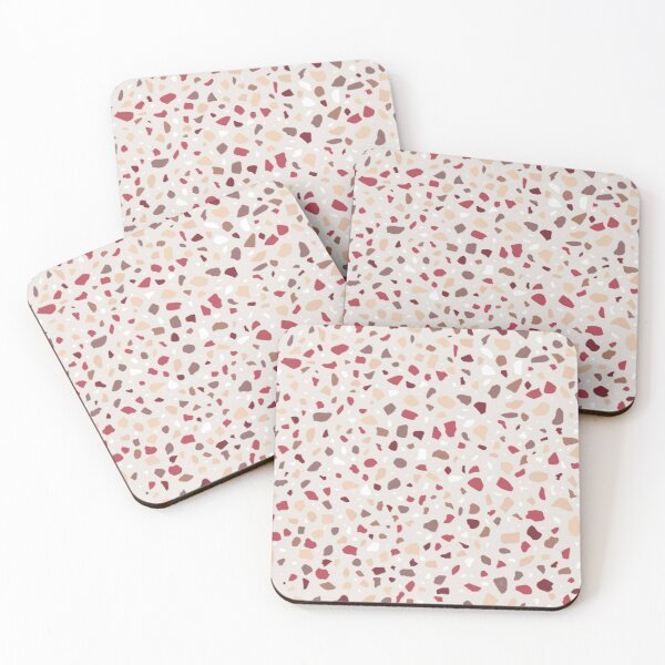 AFE Red And Brown Terrazzo Coasters (Set of 4)