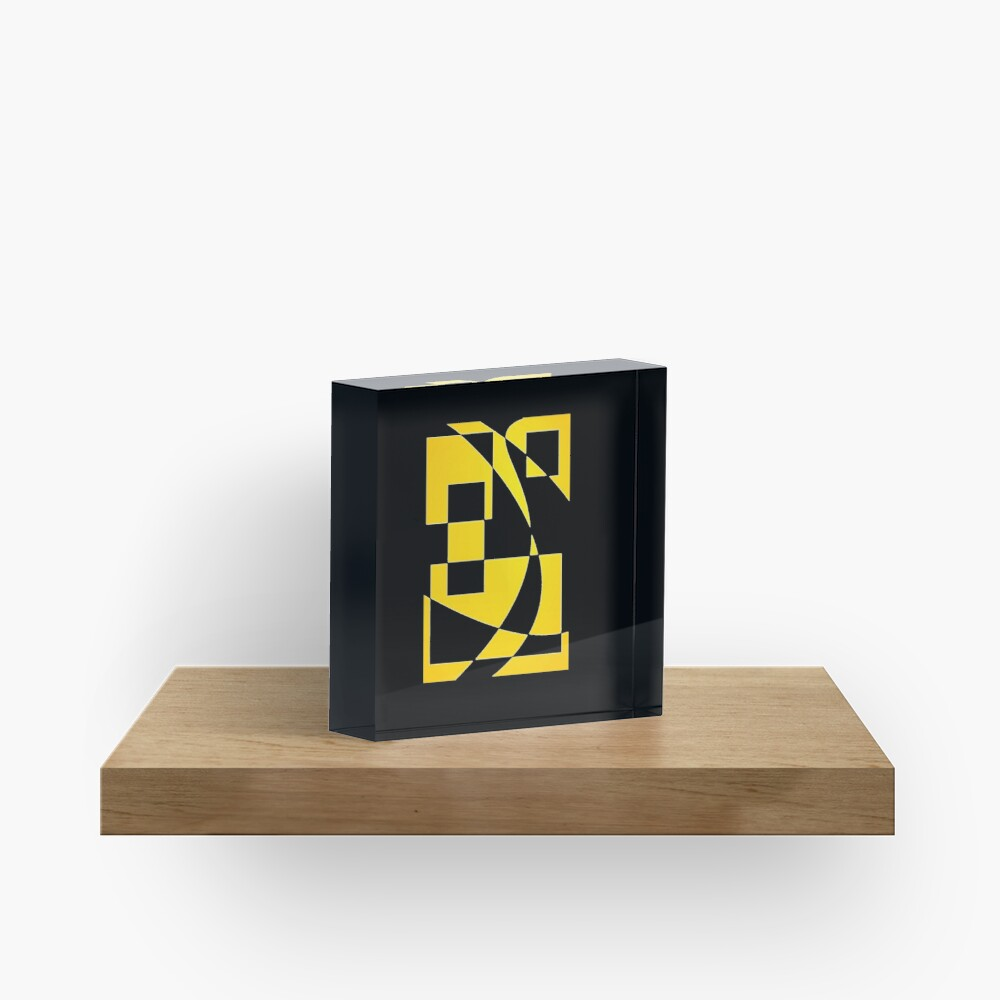 Window & Light, Abstract (Designed by Just Stories) Acrylic Block
