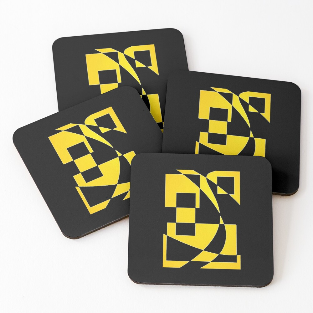 Window & Light, Abstract (Designed by Just Stories) Coasters (Set of 4)