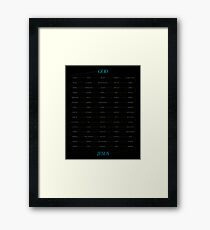 Word: Luke (Genealogy) Framed Print