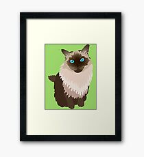 Lucy-Fur Framed Print