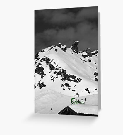 If Carlsberg Made Ski Resorts... Greeting Card