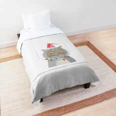Christmas cat - fairy lights - pet Comforter