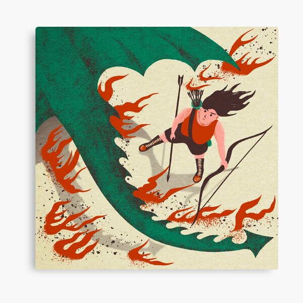 She's got the devil in her heart Canvas Print