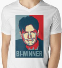 "Charlie Sheen ""Bi-Winner"" Obama Style Shirt T-Shirt"