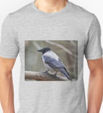 Showing the profile. Hooded Crow Slim Fit T-Shirt
