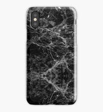 Black and White Modern Faux Marble Pattern iPhone Case/Skin