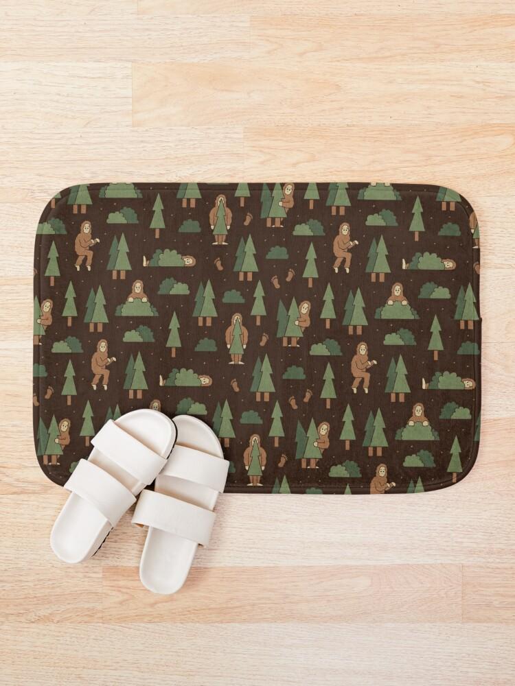 Alternate view of Bigfoot Forest Bath Mat