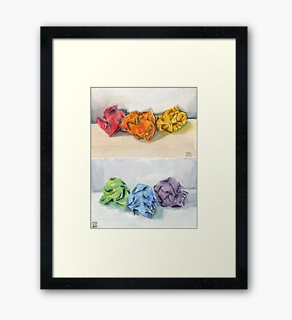Crumpled Series Print Framed Print