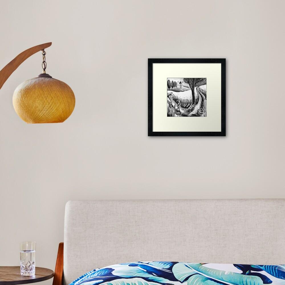 Inktober 2019 day 31 ripe Framed Art Print