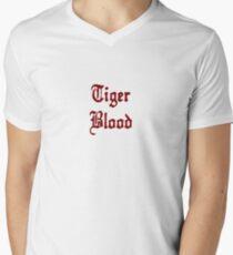 Tiger Blood Mens V-Neck T-Shirt