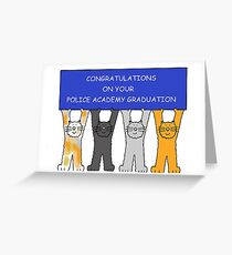 Police Academy Graduation Congratulations. Greeting Card