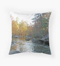 Unami Creek in Autumn - Green Lane, PA Throw Pillow